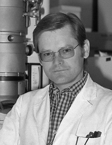 Wolf D. Kuhlmann im Labor